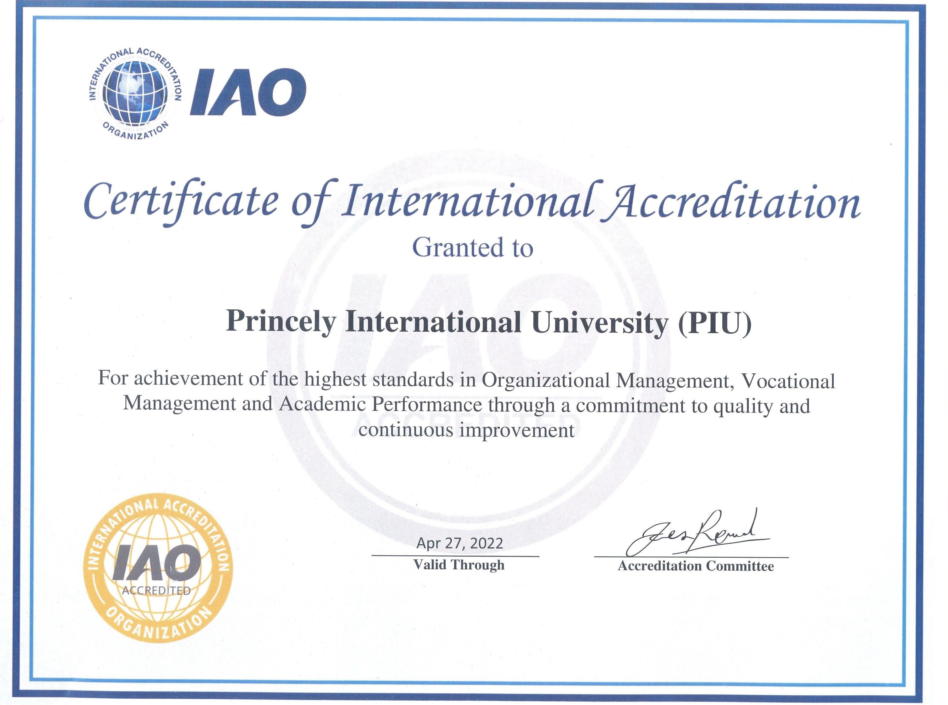 Princely International University